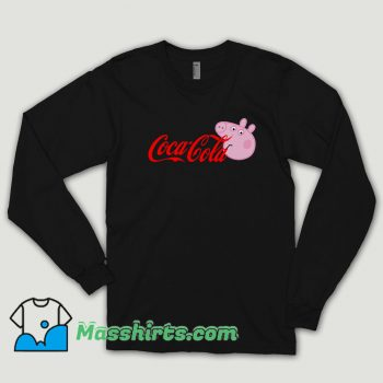 Coke Peppa Pig Parody Long Sleeve Shirt
