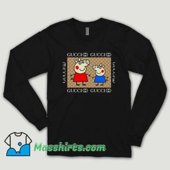 Cool Gucci Peppa Pig Long Sleeve Shirt