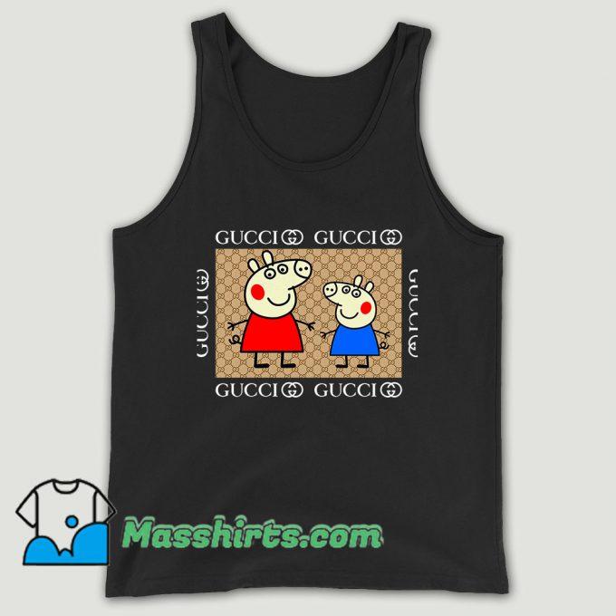 Cool Gucci Peppa Pig Unisex Tank Top