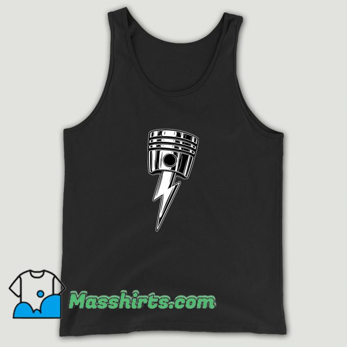 Cool Lightning Bolt Piston Unisex Tank Top