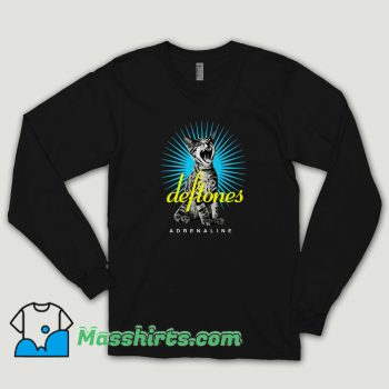 Deftones Adrenaline Sreaming Cat Long Sleeve Shirt