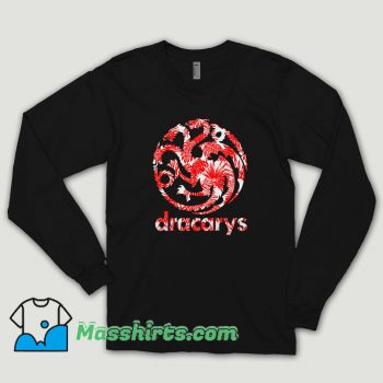 Dracarys Flower Long Sleeve Shirt