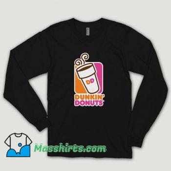 Dunkin Donuts Coffee Long Sleeve Shirt