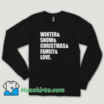 Family Love Christmas Long Sleeve Shirt