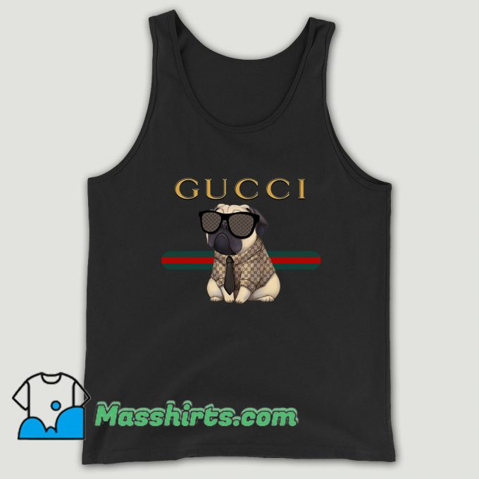 Funny Pug Dog Unisex Tank Top