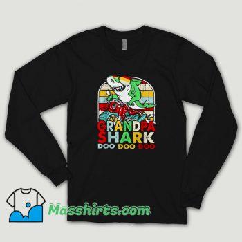 Grandpa Shark Doo Doo Doo Long Sleeve Shirt