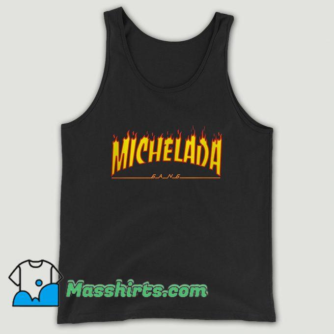 Guariz Michelada Gang Flame Thrasher Unisex Tank Top