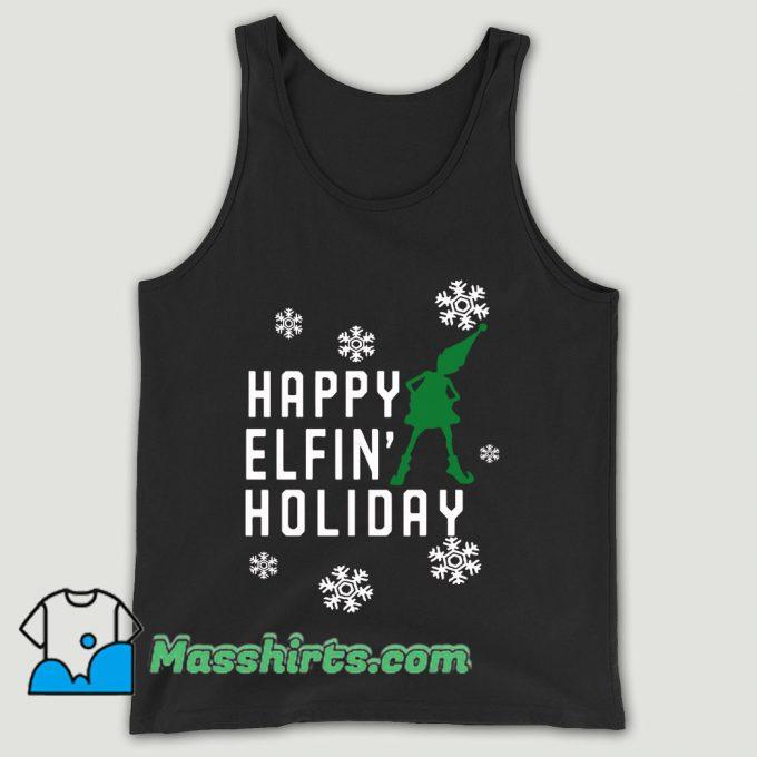 Happy Elfin Holiday Unisex Tank Top