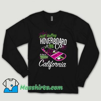Hill Valley Hoverboard Back To The Future Vintage Long Sleeve Shirt
