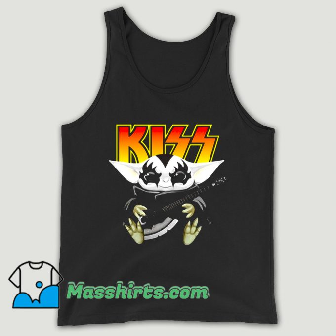 Hot Baby Yoda Hug Kiss Guitar Unisex Tank Top