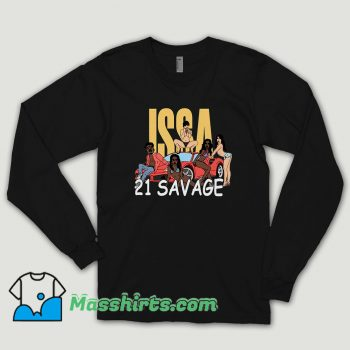 Issa Blanc 21 Savage Long Sleeve Shirt