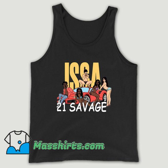 Issa Blanc 21 Savage Unisex Tank Top