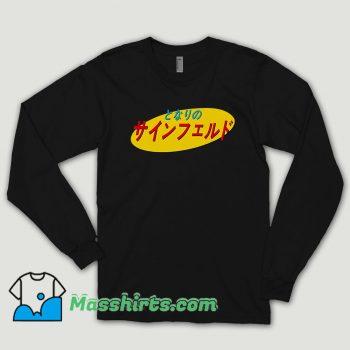 Japanese Seinfeld Logo Long Sleeve Shirt
