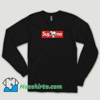 Joe Cool Snoopy Red Box Supreme Long Sleeve Shirt