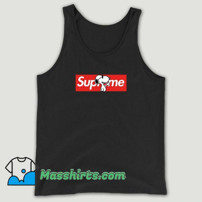 Joe Cool Snoopy Red Box Supreme Unisex Tank Top