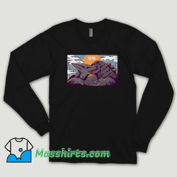 Kaiju Kiss Godzilla Long Sleeve Shirt