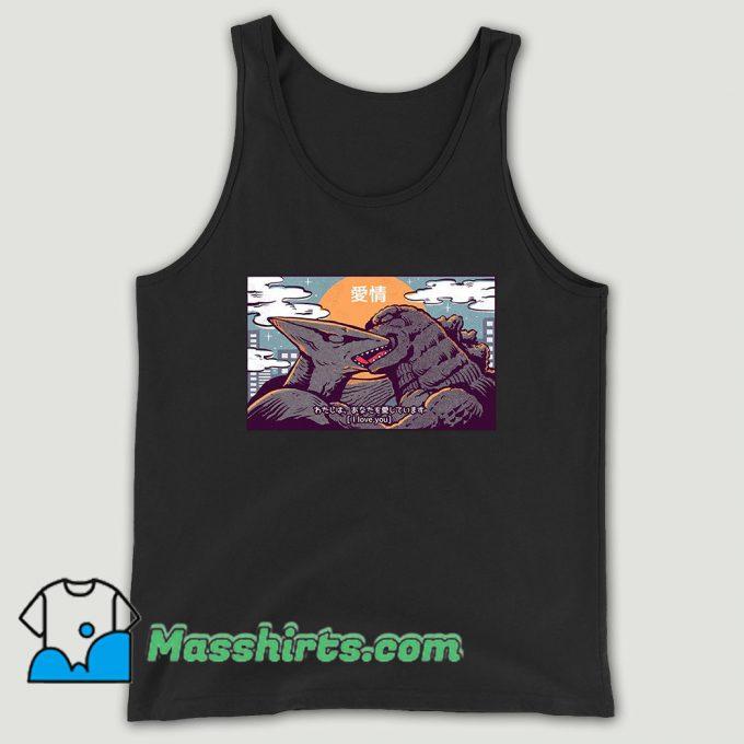 Kaiju Kiss Godzilla Unisex Tank Top