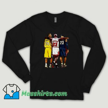 Kobe Bryant Goat Hoodie X Michael Jordan X Lebron James Long Sleeve Shirt