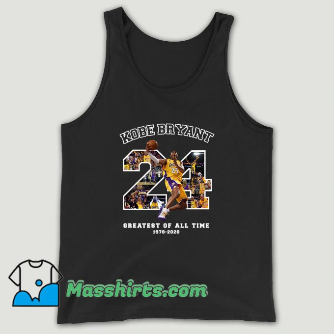 Kobe Bryant Greatest Of All Time Basketball Unisex Tank Top