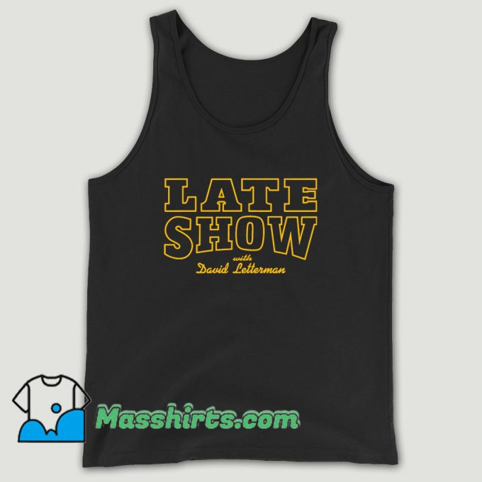 Late Show With David Letterman Unisex Tank Top