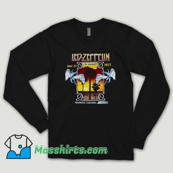 Led Zeppelin 1977 Inglewood Concert Long Sleeve Shirt