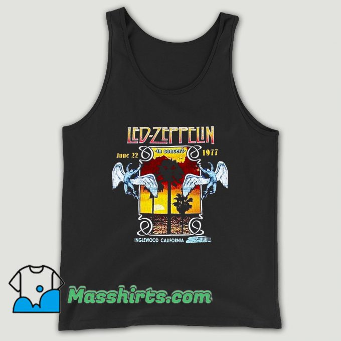 Led Zeppelin 1977 Inglewood Concert Unisex Tank Top