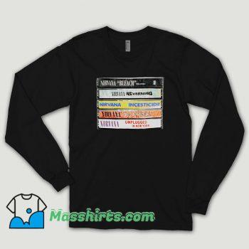 Nirvana Album Cassettes Long Sleeve Shirt