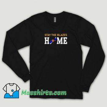 Nova Scotia Stay The Blazes Home Long Sleeve Shirt
