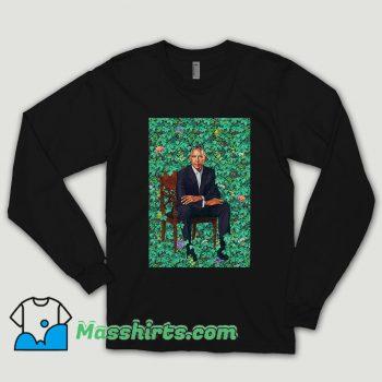 Obama Portraits Blend Paint Long Sleeve Shirt