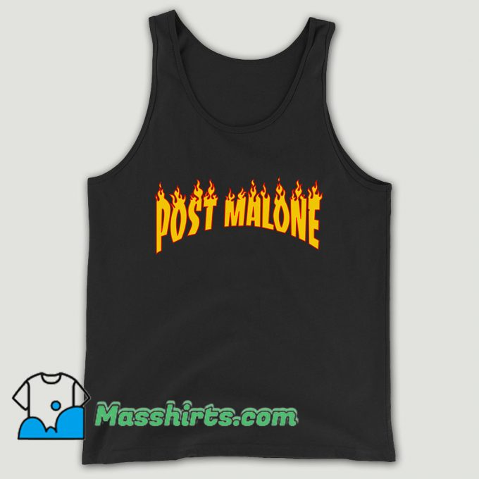 Post Malone Thrasher Flame Unisex Tank Top