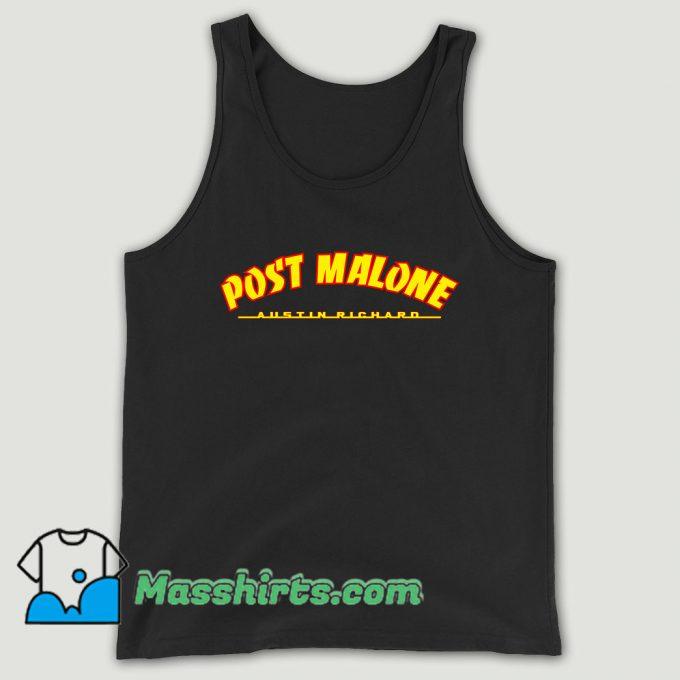 Post Malone Thrasher Logo Unisex Tank Top
