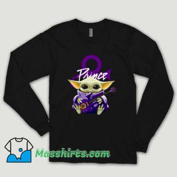 Prince Baby Yoda Hug Guitar Long Sleeve Shirt