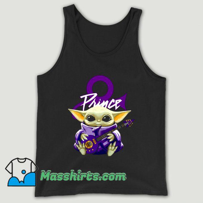 Prince Baby Yoda Hug Guitar Unisex Tank Top