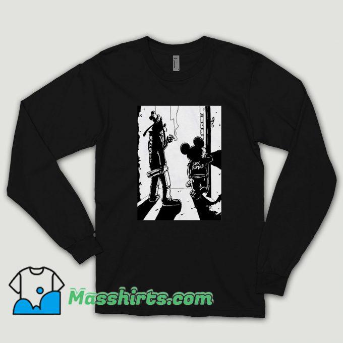 Punk Rock Goofy And Mickey Long Sleeve Shirt
