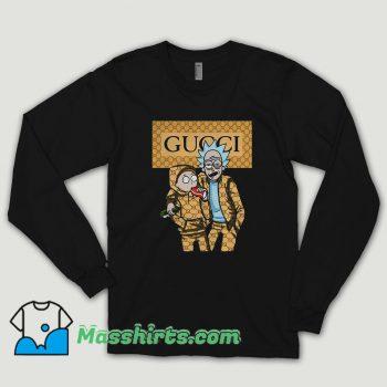 Rick And Morty Wearing Gucci Long Sleeve Shirt
