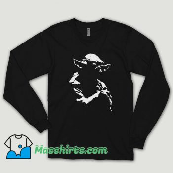 Star Wars Yoda Silhoutte Long Sleeve Shirt
