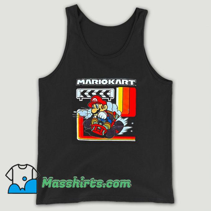 Super Mario Kart Checkered Unisex Tank Top