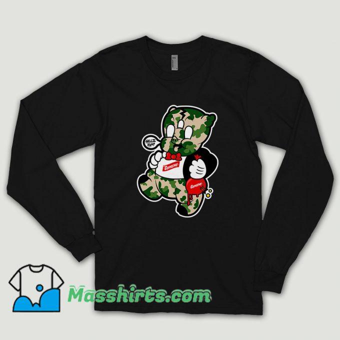 Supreme Porky Pig Long Sleeve Shirt