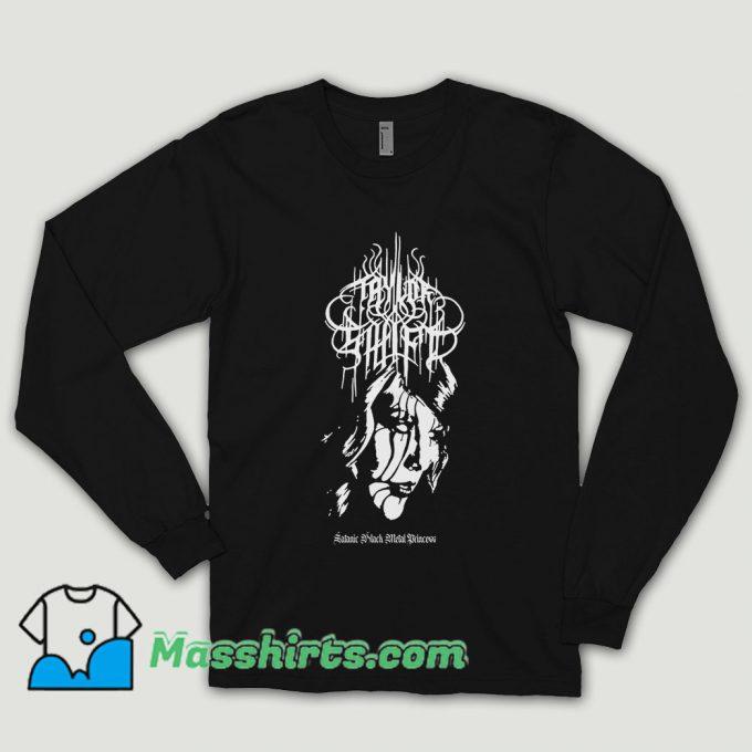 Taylor Swift Black Metal Long Sleeve Shirt