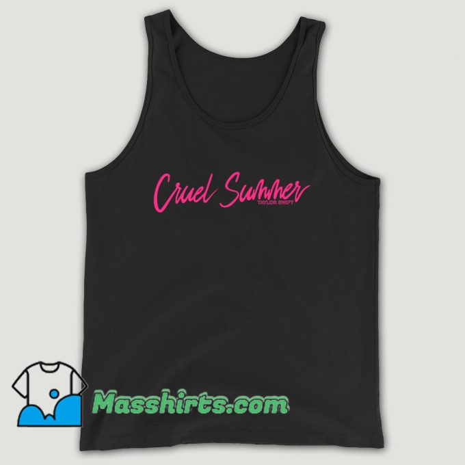 Taylor Swift Black Song Title Unisex Tank Top