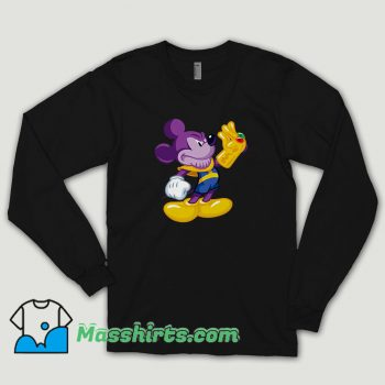 Thanos Mickey Mouse Long Sleeve Shirt
