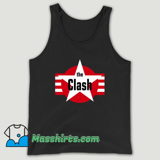 The Clash Star And Stripes Magnet Unisex Tank Top
