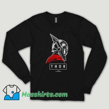 Thor Ragnarok God Graphic Long Sleeve Shirt