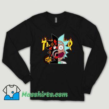 Thrasher Bape Rick Morty Long Sleeve Shirt