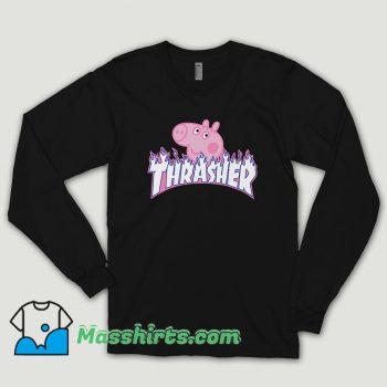 Thrasher Peppa Pig Cute Long Sleeve Shirt