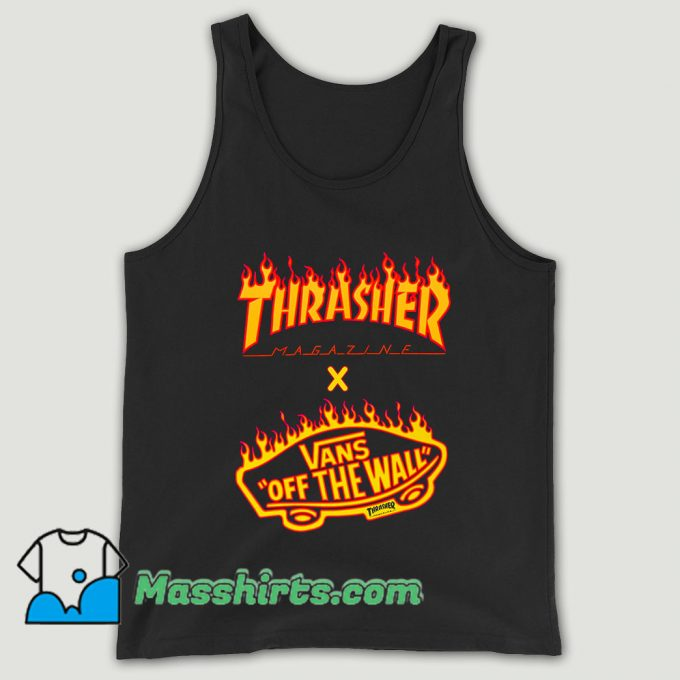 Thrasher X Vans Flame Collaboration Unisex Tank Top