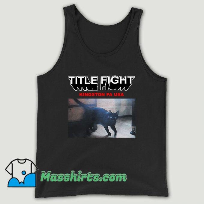 Title Fight Kingston Cat Unisex Tank Top