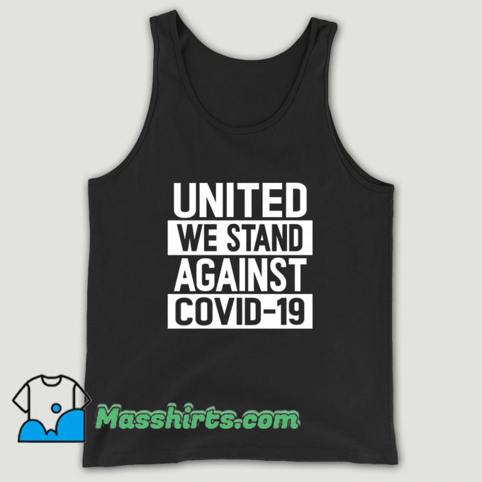 United We Stand Against Covid Unisex Tank Top