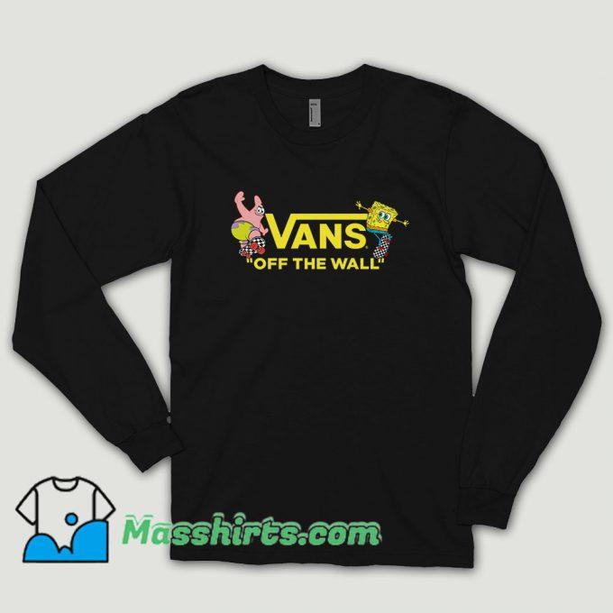 Vans Spongebob Squarepants Collaboration Yellow Long Sleeve Shirt