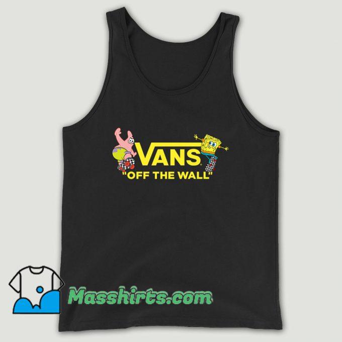 Vans Spongebob Squarepants Collaboration Yellow Unisex Tank Top